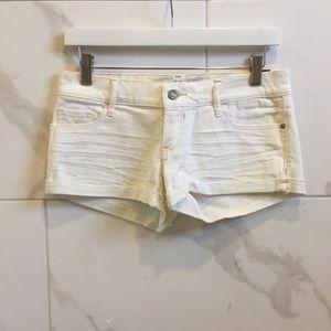 New Abercrombie | White Jean Shorts